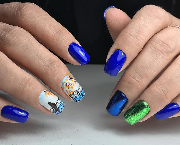 vogue nails популярный синий