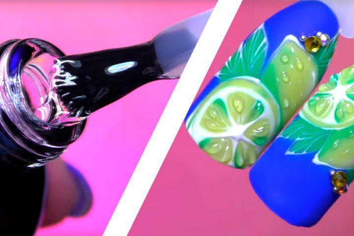Сочный цитрус: простой дизайн ногтей на летний сезон
