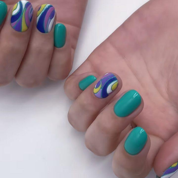 Фактурная мозаика на ногтях и выравнивание большого пальца