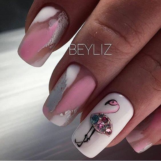 дизайн с фламинго