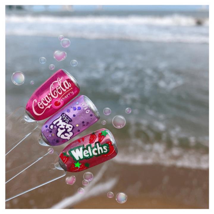 imkosmetik news coca-cola дизайн ногтей