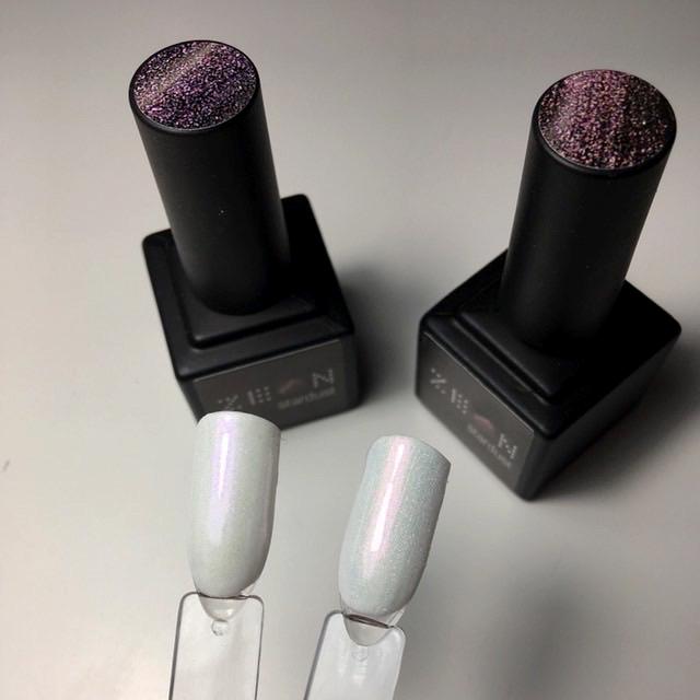 Перламутровые гель-лаки с блёстками от Zeon | отзыв nail-мастера