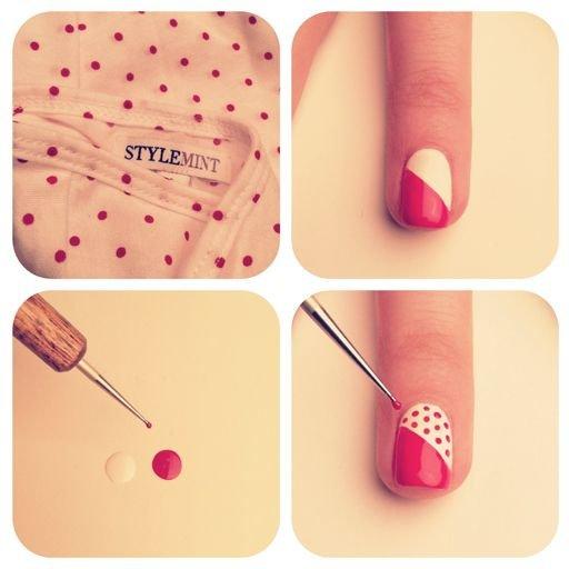 Как сделать несложный рисунок на ногтях
