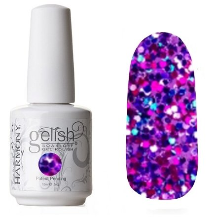 01865 Party Girl Problems Harmony GelishHarmony Gelish<br>Фиолетовый конфеттиКоллекция Trends<br>