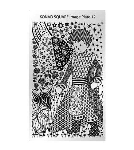 Konad, диск для стемпинга Square Image Plate 12Диски для стемпинга Konad<br>Изображение по мотивам сказки маленький принц, с помощью которых вы сможете создать великолепные рисунки на ногтях, которые очень сложно создать вручную.<br>