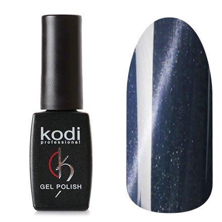 Kodi, Гель-лак Кошачий глаз № 748 (8ml)Kodi Professional <br>Магнитный гель-лак графитовый, перламутровый с синими микроблестками, плотный, 8мл.<br>
