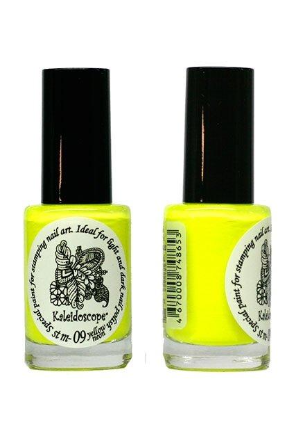 El Corazon, Краска для стемпинга - stm-09 Yellow neon (желтый неон)Лаки для стемпинга El Corazon<br>Высокопигментированный лак-краска для стемпинга.<br>