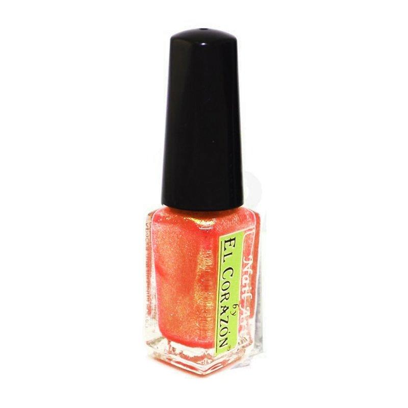 El Corazon Shaine Nail Art 561Лаки для дизайна с тонкой кистью El Corazon<br>Лак для дизайна ногтей сверкающий оранжевого цвета с мельчайшим розовым шиммером, плотный. 5 ml.<br>