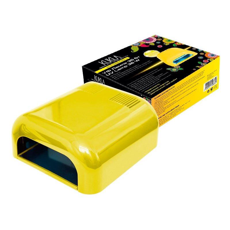 JessNail KUKLA, УФ лампа 36 Вт (желтая, глянцевая)УФ-Лампы<br>Профессиональная ультрафиолетовая лампа мощностью 36 Ватт.<br>