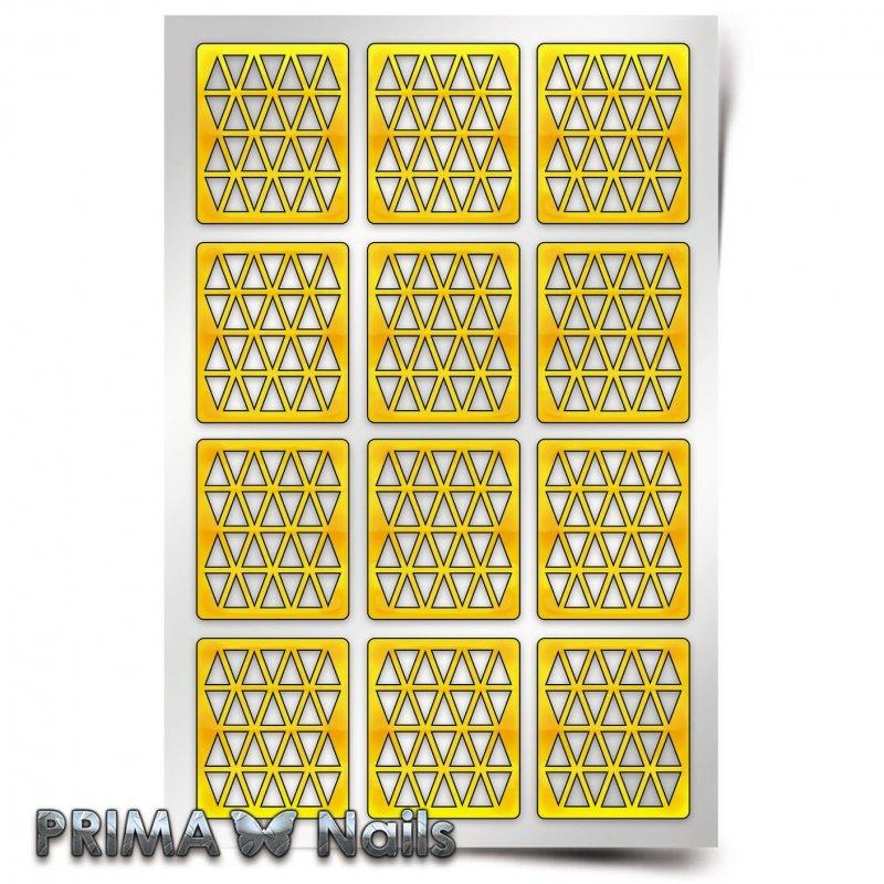 PrimaNails, Трафарет для дизайна ногтей - Орнамент ТреугольникиPrimaNails<br>Самоклеющиеся трафареты<br>