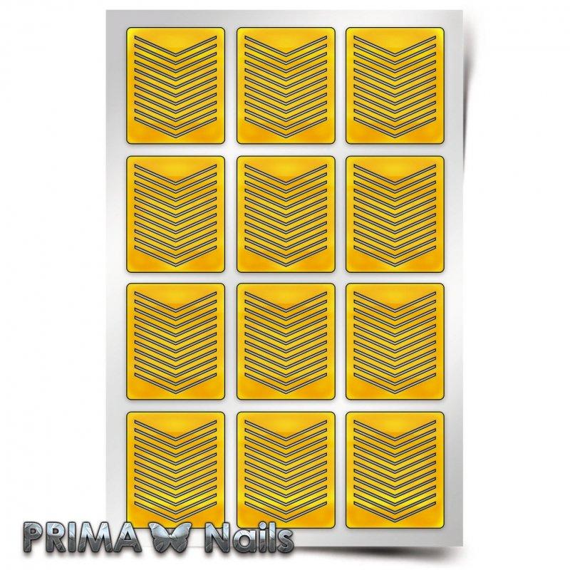 PrimaNails, Трафарет для дизайна ногтей - Принт Шевроны тонкиеPrimaNails<br>Самоклеющиеся трафареты<br>