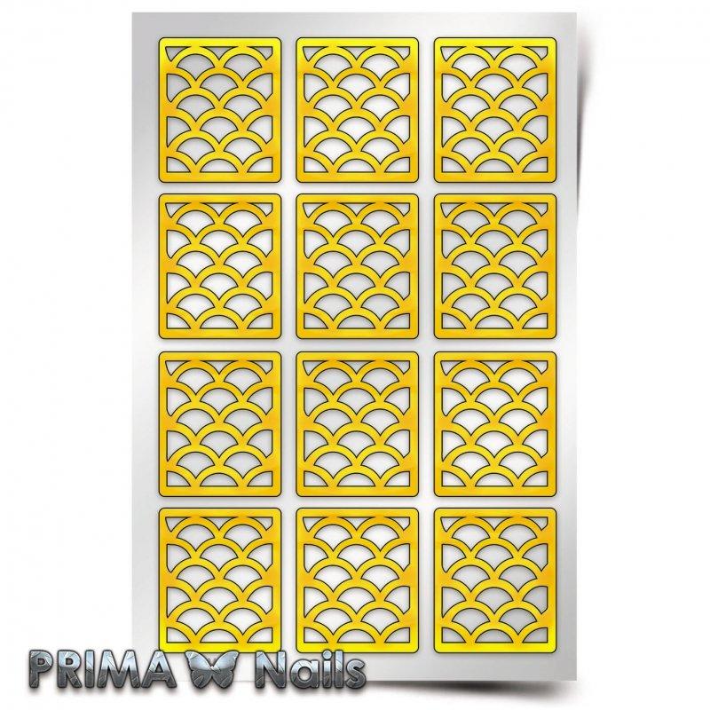 PrimaNails, Трафарет для дизайна ногтей - Русалка (крупный)