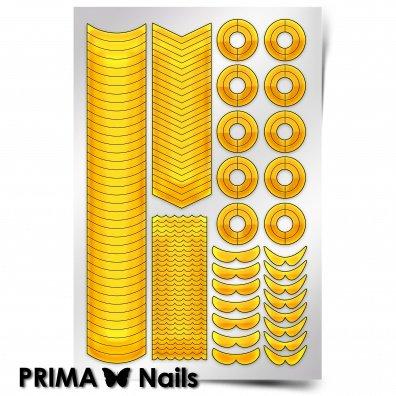 PrimaNails, Трафарет для дизайна ногтей - Френч и лункиPrimaNails<br>Самоклеющиеся трафареты<br>