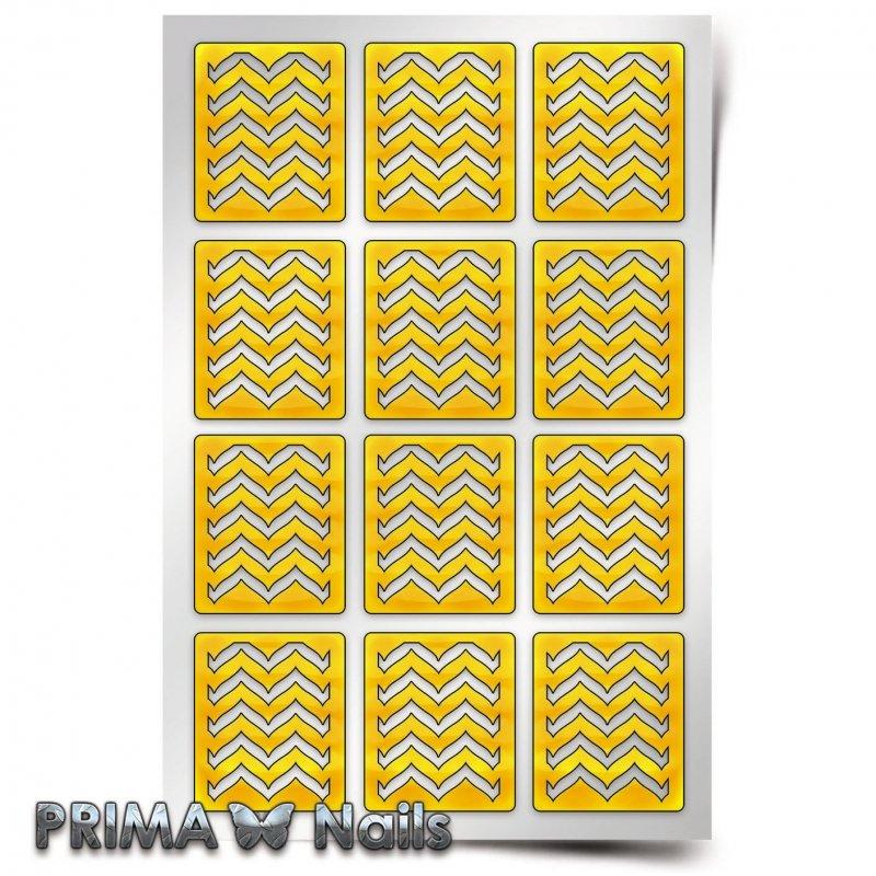 PrimaNails, Трафарет для дизайна ногтей - Эффект водного маникюра
