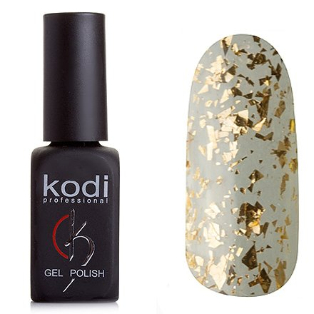 Kodi, Гель-лак № 502 (8ml)Kodi Professional <br>Гель-лак прозрачный, с золотой слюдой, 8мл.<br>