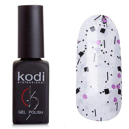 Kodi, Гель-лак № 503 (8ml)Kodi Professional <br>Гель-лак прозрачный, конетти черное, белое и розово-фиолетовое, 8мл.<br>