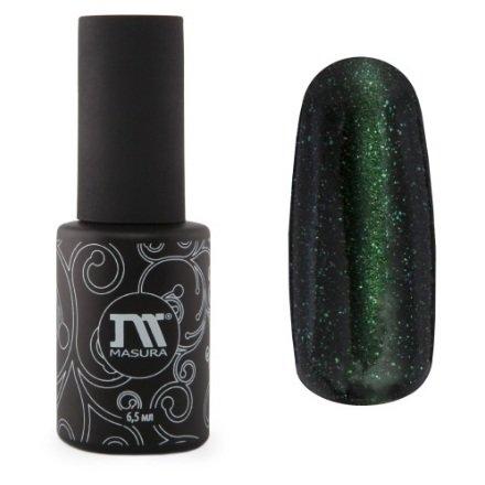 Masura, Гель лак Кошачий глаз №296-18 Зеленый Арчи, 6.5mlMasura<br>Магнитный гель-лак болотно-зелёный, со светло-зелёными микроблёстками, перламутровый, плотный,6.5ml<br>