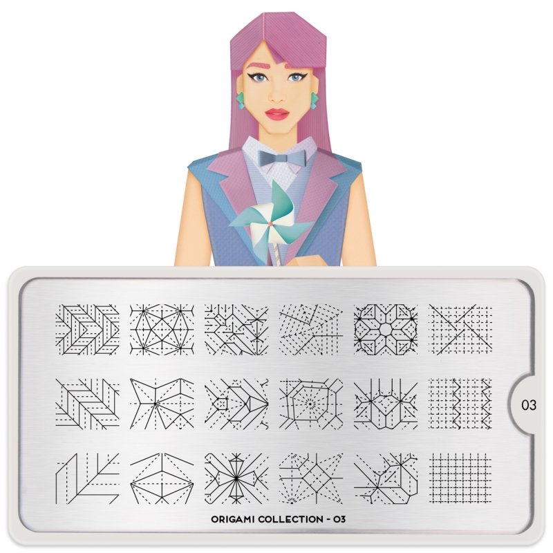 Пластина MoYou London Origami 03Пластины для стемпинга MoYou London<br>Коллекция Origami<br>