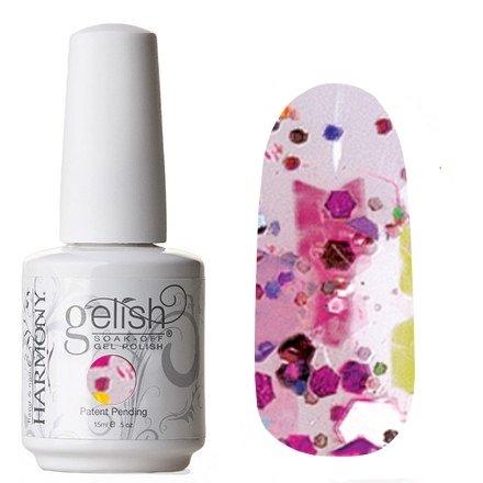 01875 Shattered Beauty Harmony GelishHarmony Gelish<br>Розово-фиолетовое конфетти смерцающими блестками<br>