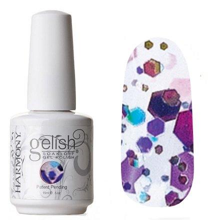 01957 Looking Glass Harmony GelishHarmony Gelish<br>Фиолетово-голубое конфетти с мерцающими блестками<br>