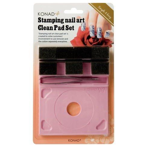 Konad, Набор для очистки трафаретов Konad Clear Pad SetИнструменты и Аксессуары Konad<br>Этот набор включает в себя подставку для трафаретов, 3 губки для очистки, 1 большую запасную губку, которая может быть разделена на 4 маленьких, пинцет.<br>