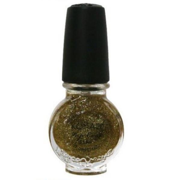 Konad, Топ закрепитель золотой с блестками 11 mlЗакрепители для стемпинга Konad<br>С закрепителем Ваш рисунок на ногтях будет более насыщенным и держаться несколько недель.<br>