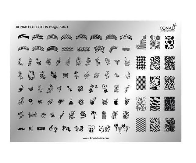 Konad, Collection Plate 1 (A5)Диски для стемпинга Konad<br>103 рисунка в супер набореCollection Plate 1.<br>