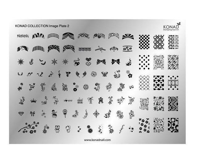 Konad, Collection Plate 2 (A5)Диски для стемпинга Konad<br>91 рисунка в супер набореCollection Plate 2<br>