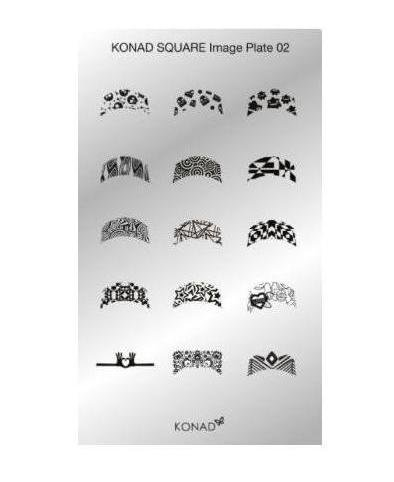 Konad, диск для стемпинга Square Image Plate 2Диски для стемпинга Konad<br>15 видов изображений, с помощью которых вы сможете создать великолепные рисунки на ногтях, которые очень сложно создать вручную.<br>