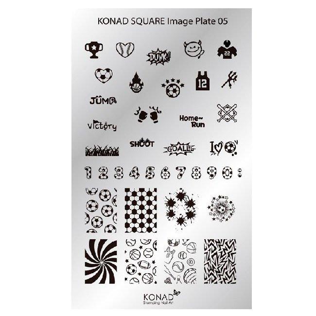 Konad, диск для стемпинга Square Image Plate 5Диски для стемпинга Konad<br>38 видов изображений, с помощью которых вы сможете создать великолепные рисунки на ногтях, которые очень сложно создать вручную.<br>