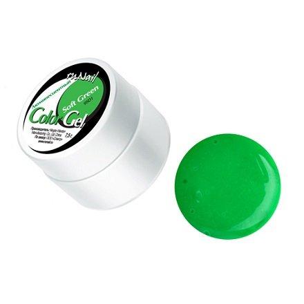 ruNail, УФ-гель цветной, люминесцентный (Нежно-зеленый, Soft Green), 7,5 гУФ гели RuNail<br>Цветной Уф-гель. Начинает светиться в темноте под воздействием ультрафиолетовых лучей.<br>