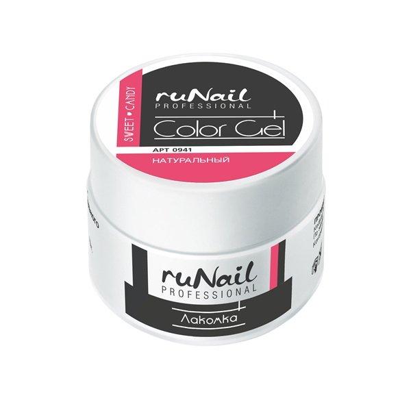 ruNail, УФ-гель цветной (Лакомка, Sweet Candy), 7,5 гУФ гели RuNail<br>Цветной непрозрачный УФ-гель густой вязкости.<br>