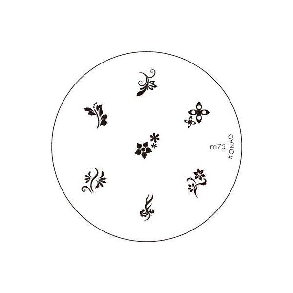 Konad, диск для стемпинга М75Диски для стемпинга Konad<br>7 видов изображений, с помощью которых вы сможете создать великолепные рисунки на ногтях, которые очень сложно создать вручную.<br>
