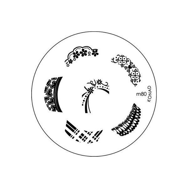 Konad, диск для стемпинга М80Диски для стемпинга Konad<br>Набор изображений для френча.<br>