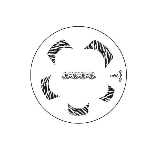 Konad, диск для стемпинга М88Диски для стемпинга Konad<br>Набор изображений для френча.<br>