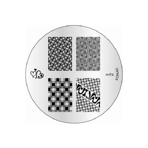 Konad, диск для стемпинга М96Диски для стемпинга Konad<br>5 видов изображений, с помощью которых вы сможете создать великолепные рисунки на ногтях, которые очень сложно создать вручную.<br>