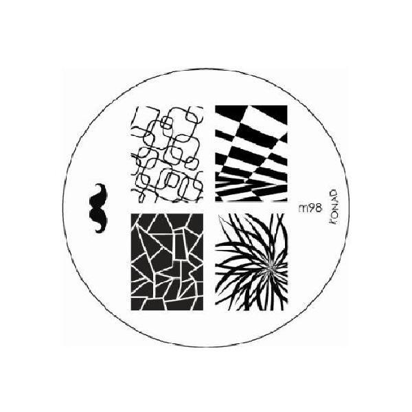Konad, диск для стемпинга М98Диски для стемпинга Konad<br>5 видов изображений, с помощью которых вы сможете создать великолепные рисунки на ногтях, которые очень сложно создать вручную.<br>