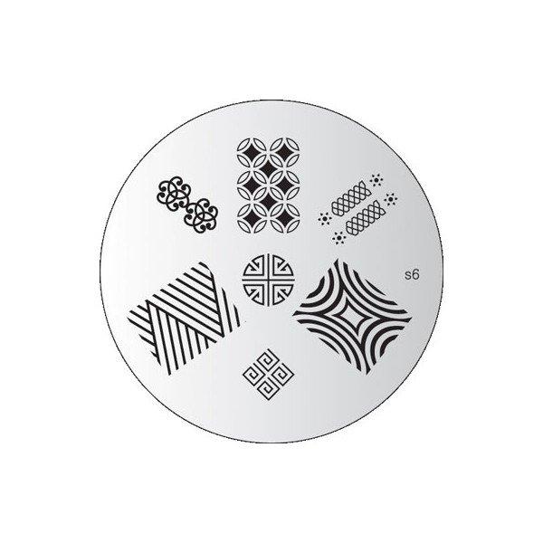 Konad, диск для стемпинга S6Диски для стемпинга Konad<br>7 видов изображений, с помощью которых вы сможете создать великолепные рисунки на ногтях, которые очень сложно создать вручную.<br>