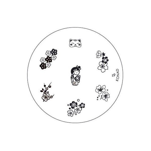 Konad, диск для стемпинга S9Диски для стемпинга Konad<br>7 видов изображений, с помощью которых вы сможете создать великолепные рисунки на ногтях, которые очень сложно создать вручную.<br>