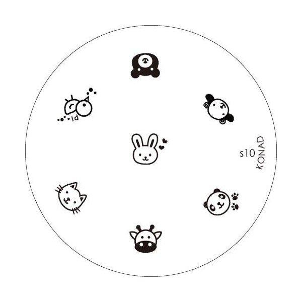 Konad, диск для стемпинга S10Диски для стемпинга Konad<br>7 видов изображений, с помощью которых вы сможете создать великолепные рисунки на ногтях, которые очень сложно создать вручную.<br>