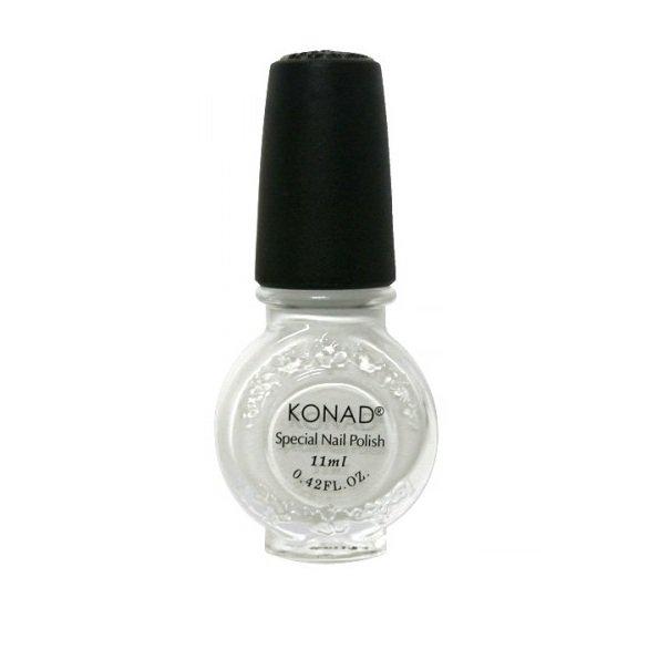 Konad, лак для стемпинга, цвет S01 White 11 ml (белый)Лаки для стемпинга Konad<br>Специальный лак для нанесения рисунка с помощью стемпинга.<br>