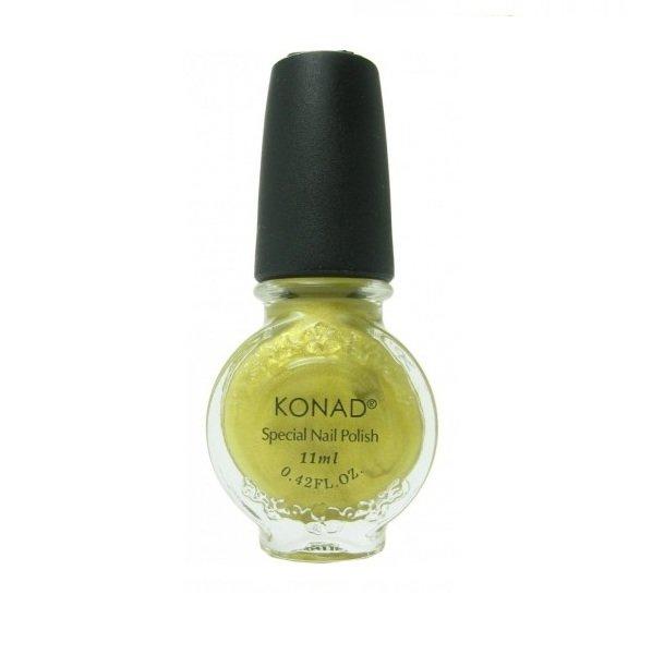 Konad, лак для стемпинга, цвет S04 Gold 11 ml (золотой)Лаки для стемпинга Konad<br>Специальный лак для нанесения рисунка с помощью стемпинга.<br>