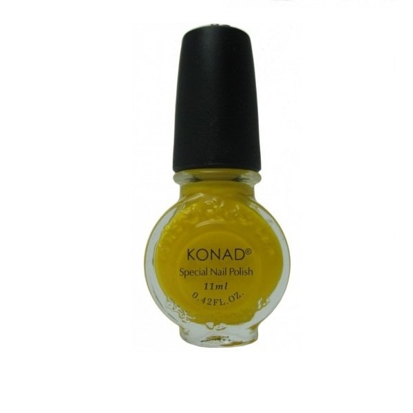 Konad, лак для стемпинга, цвет S06 Yellow 11 ml (желтый)Лаки для стемпинга Konad<br>Специальный лак для нанесения рисунка с помощью стемпинга.<br>