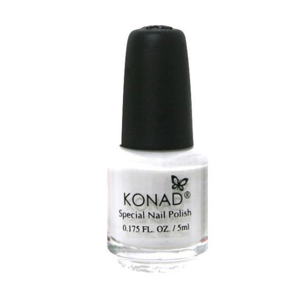 Konad, лак для стемпинга, цвет S01 White 5 ml (белый)Лаки для стемпинга Konad<br>Специальный лак для нанесения рисунка с помощью стемпинга.<br>