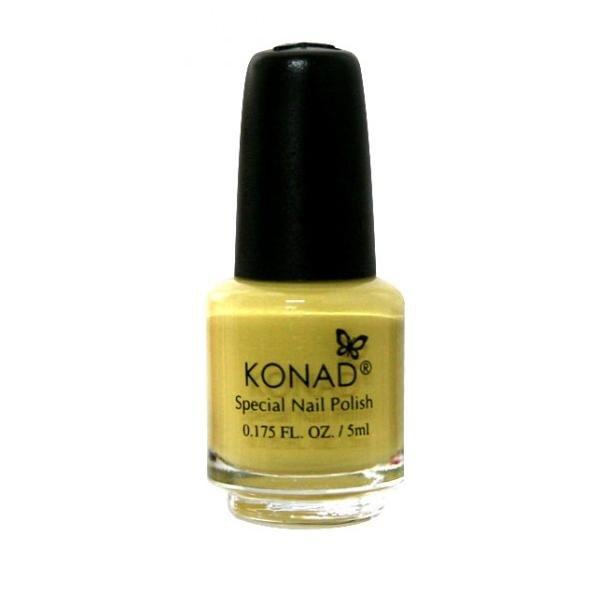 Konad, лак для стемпинга, цвет S05 Pastel Yellow 5 ml (пастельный желтый)Лаки для стемпинга Konad<br>Специальный лак для нанесения рисунка с помощью стемпинга.<br>