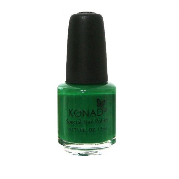 Konad, лак для стемпинга, цвет S09 Green 5 ml (зеленый)Лаки для стемпинга Konad<br>Специальный лак для нанесения рисунка с помощью стемпинга.<br>