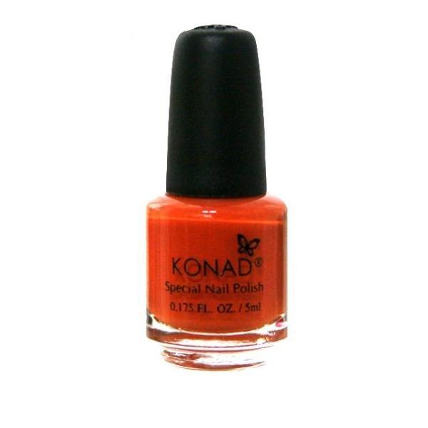 Konad, лак для стемпинга, цвет S10 Pastel Orange 5 ml (пастельный оранжевый)Лаки для стемпинга Konad<br>Специальный лак для нанесения рисунка с помощью стемпинга.<br>