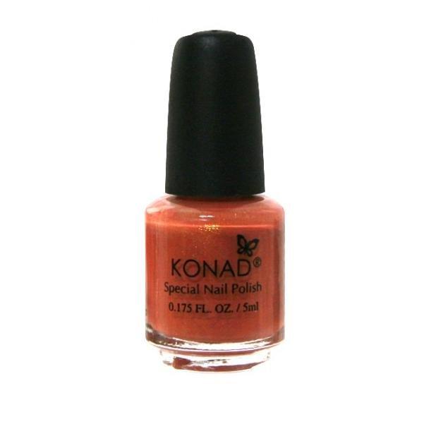 Konad, лак для стемпинга, цвет S11 Dark Orange 5 ml (темно-оранжевый)Лаки для стемпинга Konad<br>Специальный лак для нанесения рисунка с помощью стемпинга.<br>