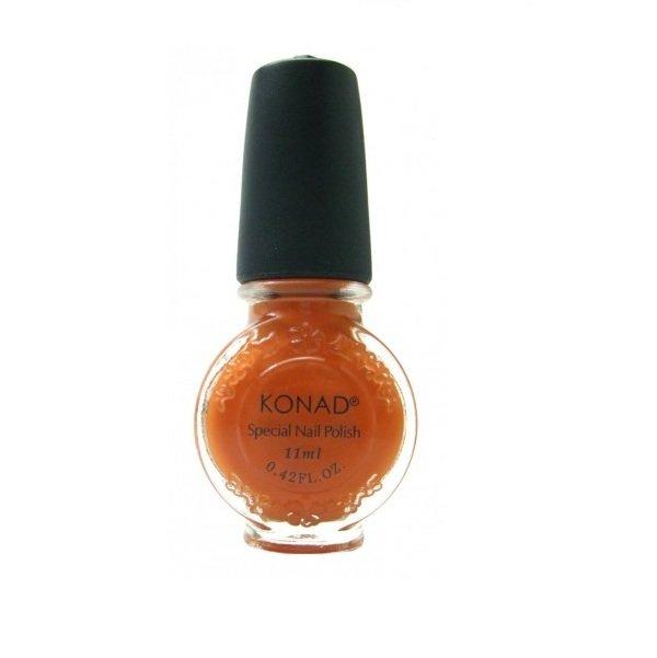 Konad, лак для стемпинга, цвет S10 Pastel Orange 11 ml (пастельный оранжевый)Лаки для стемпинга Konad<br>Специальный лак для нанесения рисунка с помощью стемпинга.<br>