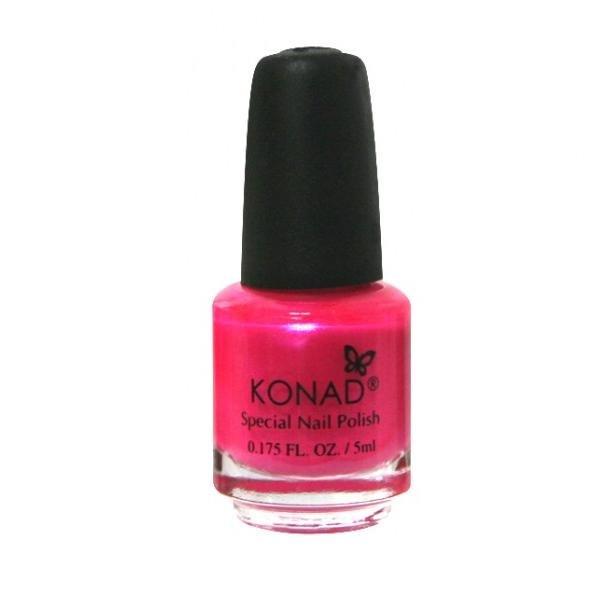 Konad, лак для стемпинга, цвет S14 Pink Pearl 5 ml (розовый с перламутром)Лаки для стемпинга Konad<br>Специальный лак для нанесения рисунка с помощью стемпинга.<br>